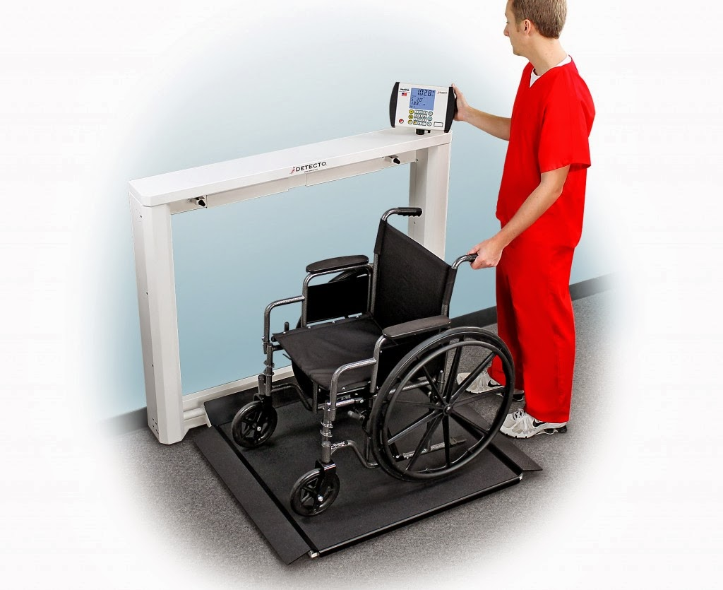 Detecto Scale's New 7550 Wall-Mount Fold-Up Wheelchair Scale
