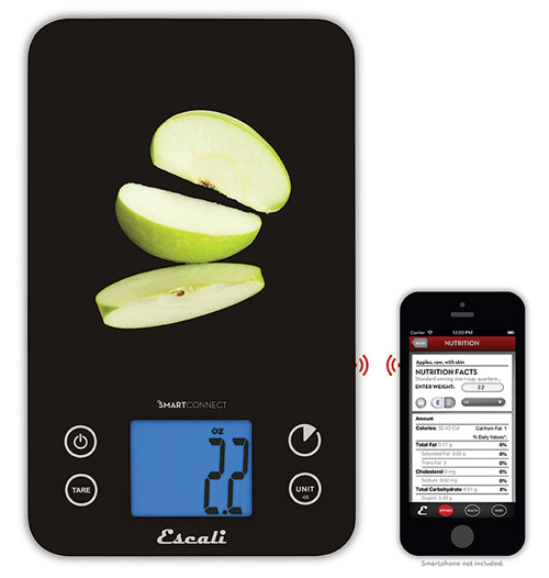 New SmartConnect Kitchen Scale from Escali with Bluetooth® LE and iPhone/iPad App