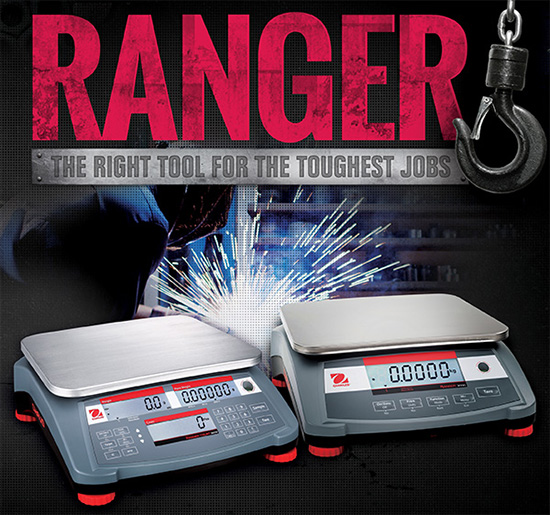 Ohaus is introducing the all new Ranger® Compact Bench and Counting Scales