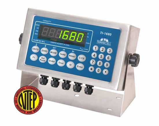 The TI-1680 weighing terminal now features truck weigh-in/weigh-out