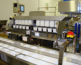 Fresh sticky food weighing automation for prepared food manufacturers and packers