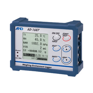 A&D Weighing launched the World's 1st Weighing Environment Logger