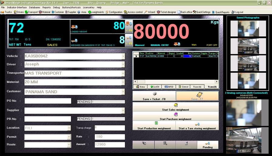 Weighbridge Software Smartweigh version 14 1 was released