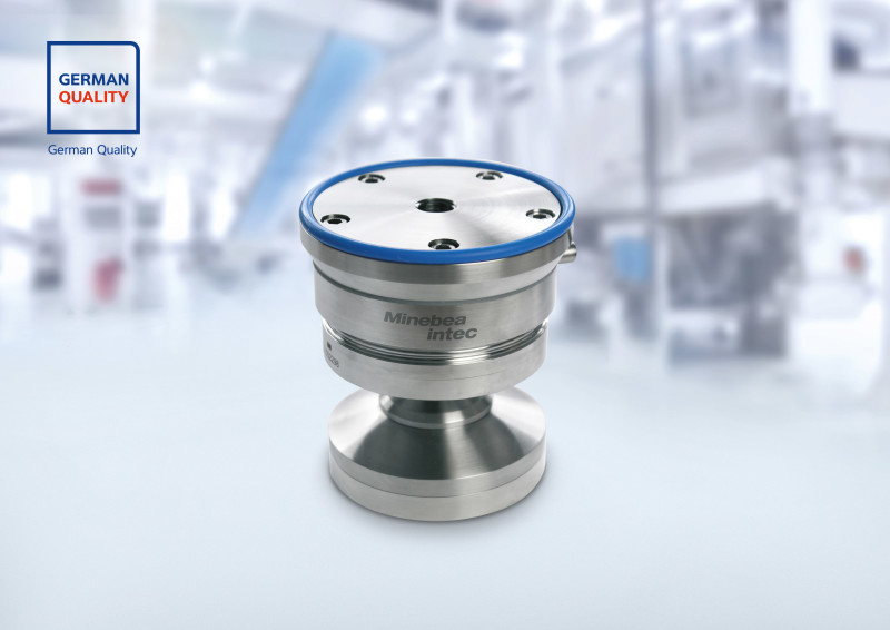 No opportunity for lateral pass forces with Minebea Intec's New Hygienic Weighing Module Novego