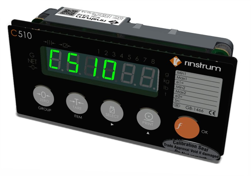 Rinstrum Launches the C510 Industrial Weight Controller