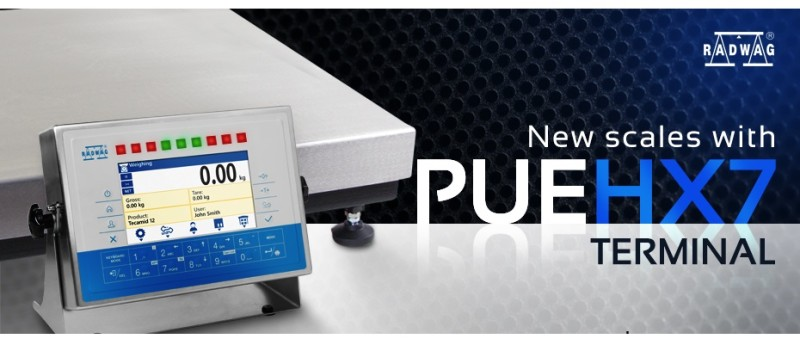 RADWAG's New Scales with PUE HX7 Terminal