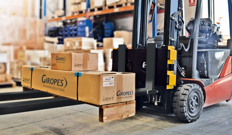New Weighing System for Forklifts by Giropes