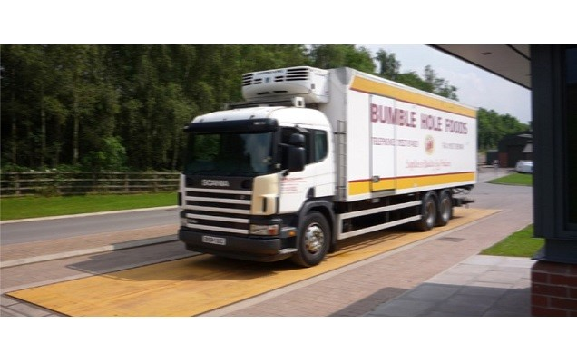 Weightron Sloping Eurodeck Weighbridge solves problem for Bumble Hole Foods