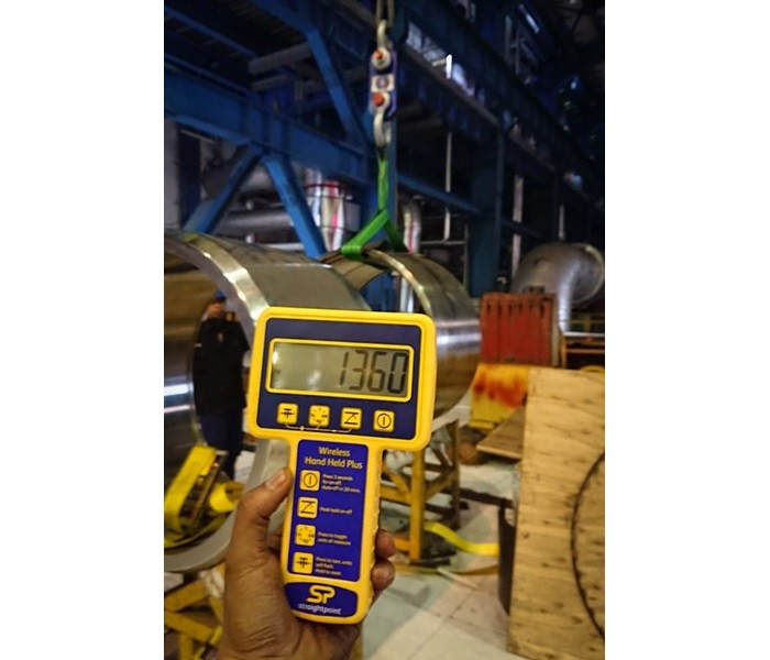 Straightpoint Load Cell Weighs Power Plant Cylinder