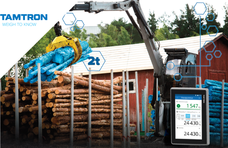 One Timber from Tamtron Now Compatible with Hydraulic Weighing Links
