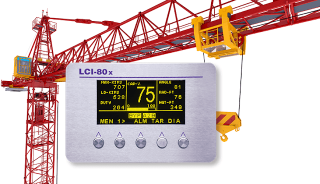 New LCI-80x Crane Safe Load Indicator from Rugged Controls