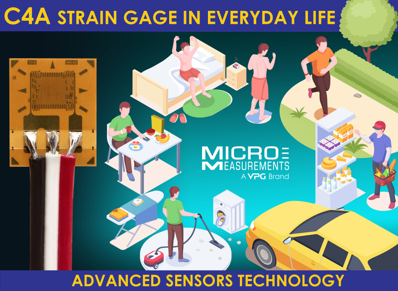 Micro-Measurements Releases Advanced Sensors Technology C4A Series  Strain Gages Enabling Easy, No-Solder Installation