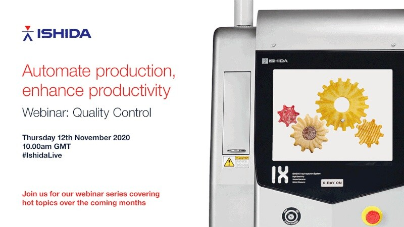 Ishida Webinar to highlight quality control best practice
