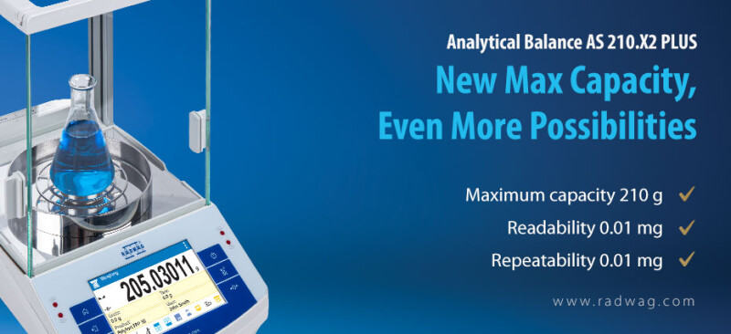 Radwag AS 210.X2 PLUS Analytical Balance - New Max Capacity, Even More Possibilities