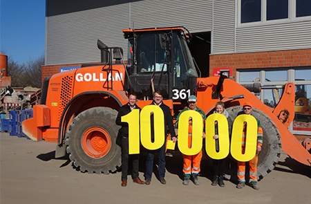 Trimble installed its 10.000th Loadrite L2180 Loader Scale