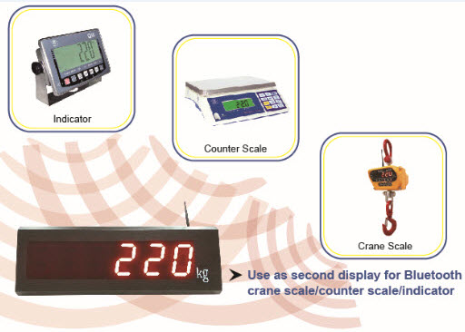 EXCELL Introduces the New BLE Large LED Remote Display for Scales