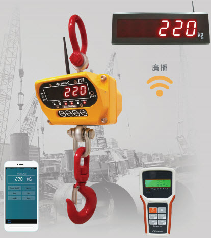 Excell Launches New IP66 Waterproof Crane Scale FJ5