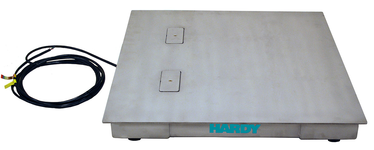 Durable, Reliable Hardy Floor Scales now offered in custom sizes for Industrial Weighing & Washdown Applications