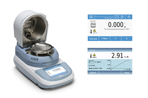 New Touch Screen Moisture Analyzer from Bel Engineering Italy