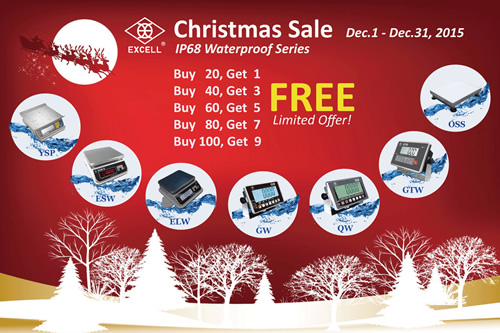 EXCELL Launches Christmas Sales Promotion on IP68 Waterproof Series Products