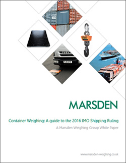 Marsden issues guide to IMO Container Weighing Ruling