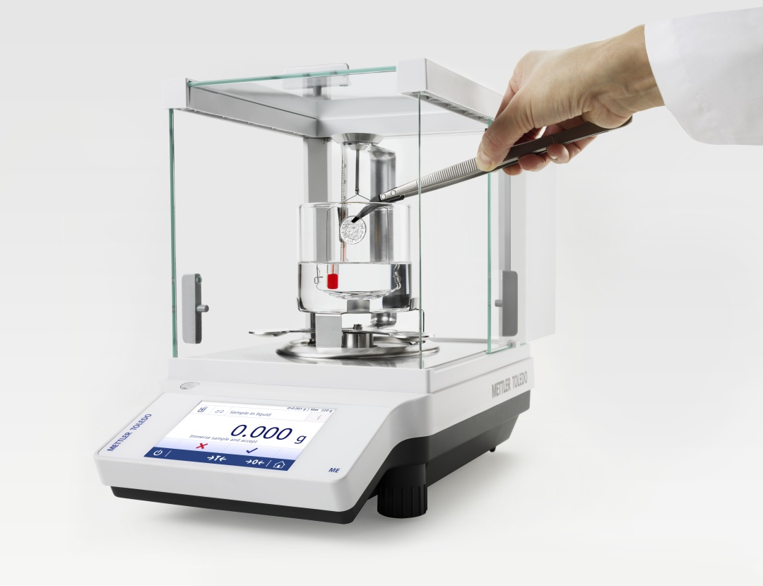 METTLER TOLEDO MS-TS, ML-T and ME-T Analytical Balances for Density Determiation of Solid Samples
